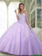 2015 Summer Top Seller Beaded and Appliques Quinceanera Dresses in Lavender