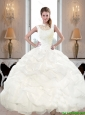 Pretty 2015 Fall High Neck and Beaded Quinceanera Dresses with Pick Ups