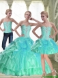 Pretty A Line 2015 Summer Quinceanera Dresses with Beading