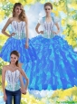 Pretty Ball Gown Quinceanera Dresses with Beading and Ruffles For 2015 Summer