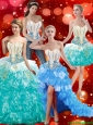 Pretty Sweetheart Quinceanera Dresses with Beading and Ruffles For 2015 Summer