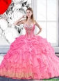 Top Seller Sweetheart 2015 Fall Quinceanera Dress with Beading and Pick Ups