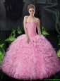 Luxurious Ball Gown Beaded and Ruffles Quinceanera Dresses For 2015 Summer