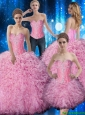 Pretty Sweetheart Beaded and Ruffles Quinceanera Dresses for 2015 Summer