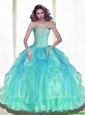 New Style Ball Gown Sweetheart Sweet 16 Dresses with Beading For 2015 Summer