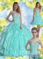 New Style Sweet 16 Dresses with Beading and Appliques for 2015 Summer