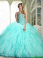 Beautiful Sweetheart Quinceanera Dresses with Ruffles and Beading For 2015 Fall