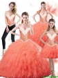 Beautiful Sweetheart Watermelon Quinceanera Dresses for 2015 Summer