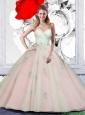 2015 Summer Beautiful Sweetheart Appliques Quinceanera Dresses