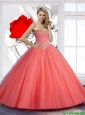 2015 Pretty Sweetheart Ball Gown Beaded Sweet 15 Dresses