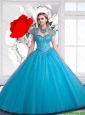 2016 New Style Sweetheart Ball Gown Beaded Sweet 15 Dresses