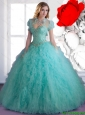 New Arrival 2015 Quinceanera Dresses with Beading and Ruffles