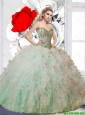 New Arrival Ball Gown Sweetheart Ruffles and Beaded Quinceanera Dress for 2015