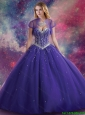 2015 Fall Perfect Ball Gown Sweetheart Beaded Quinceanera Dresses