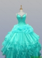2016 Summer Beautiful Straps Quinceanera Dresses with Beading and Ruffled Layers