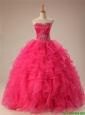 Pretty Sweetheart Quinceanera Dresses with Beading and Ruffles for 2016
