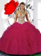Exquisite Ball Gown Straps Quinceanera Dresses with Beading for 2015 Fall