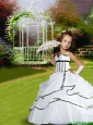 2016 Fall Pretty Cute White Little Girl Pageant Dress with Appliques and Pick-ups