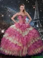 Classical Multi Color Quinceanera Dresses with Beading and Ruffled Layers