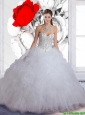 Pretty Sweetheart Beaded 2016 Quinceanera Dresses in White