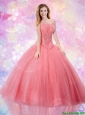 2016 Edgy Sweetheart Quinceanera Dresses with Beading and Paillette