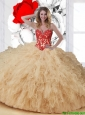 Perfect Appliques and Ruffles Sweetheart Sweet 16 Dresses in Multi Color