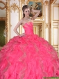 2016 Popular Strapless Quinceanera Dresses with Beading and Ruffles