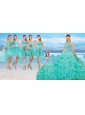 Perfect Beaded Quinceanera Dresses and Cheap Short Dama Dresses and New Turquoise Little Girl Dresses