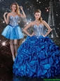 Beautiful 2016 Fall Sweetheart Detachable Quinceanera Dresses with Beading and Pick Ups