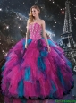 2016 Fall New Style Multi Color Sweetheart Quinceanera Dresses with Beading