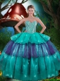 2016 Fall New Style Sweetheart Beaded Quinceanera Dresses with Ruching
