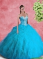 2016 Beautiful Ball Gown Sweetheart Beaded Sweet 16 Dresses