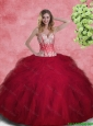 Gorgeous Ball Gown Sweetheart Quinceanera Gowns with Beading and Ruffles