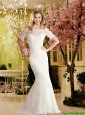 2016  Fashionable Mermaid Off the Shoulder Elegant Wedding Dress in Lace