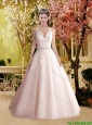 2016 New Style A Line Straps Lace Elegant Wedding Dresses in Tulle