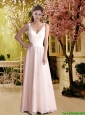 2016 Gorgeous Column V Neck Elegant Wedding Dresses with Lace