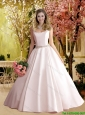2016 Gorgeous A Line Square Beaded Wedding Dresses in Satin