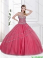 New Arrivals Beaded Sweetheart Quinceanera Gowns with Floor Length