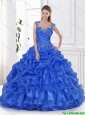 2016 Exclusive Royal Blue Quinceanera Dress with Beading and Ruffles