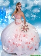 2016 Perfect Sweetheart Quinceanera Dresses with Appliques and Lace