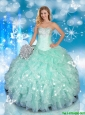 2016 Sweetheart Quinceanera Dresses with Beading and Ruffles