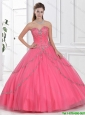 2016 Beautiful Ball Gown Sweet 16 Dresses with Beading