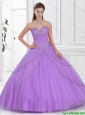 2016 Discount Ball Gown Tulle Quinceanera Gowns with Beading