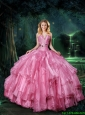 Artistic Appliques and Ruffles Quinceanera Dresses for 2016