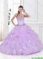 Fashionable Ball Gown Lilac Sweet 16 Dresses with Pick Ups