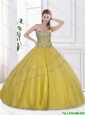 Latest Beaded Quinceanera Dresses with Sweetheart for 2016
