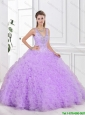 2016 New Arrivals Open Back Quinceanera Gowns with Beading and Ruffles