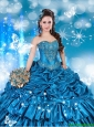2016 Pretty Sweetheart Beaded Quinceanera Dresses with Pick Ups