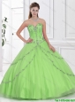 Best Selling Ball Gown Sweet 16 Dresses with Sweetheart  in Spring Green