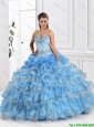 Elegant Appliques and Beaded 2016 Sweet 16 Gowns with Ruffled Layers
